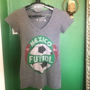Mexico Soccer V-neck T-shirt